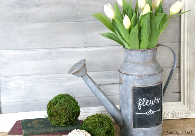 How to easily create a faux galvanized metal finish with paint. http://canarystreetcrafts.com/