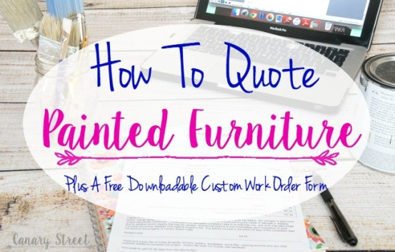 How to quote painted furniture