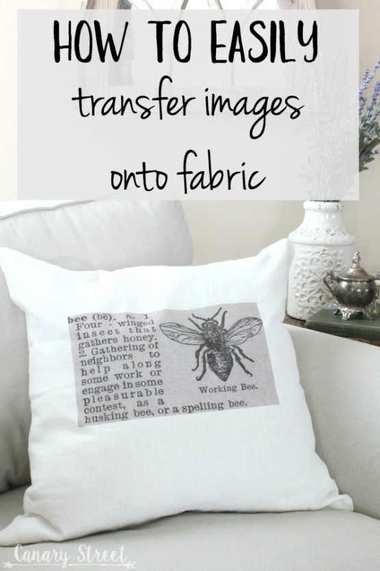 How to easily transfer images onto fabric- https://canarystreetcrafts.com/. A quick and easy way to permanently transfer images onto fabric.
