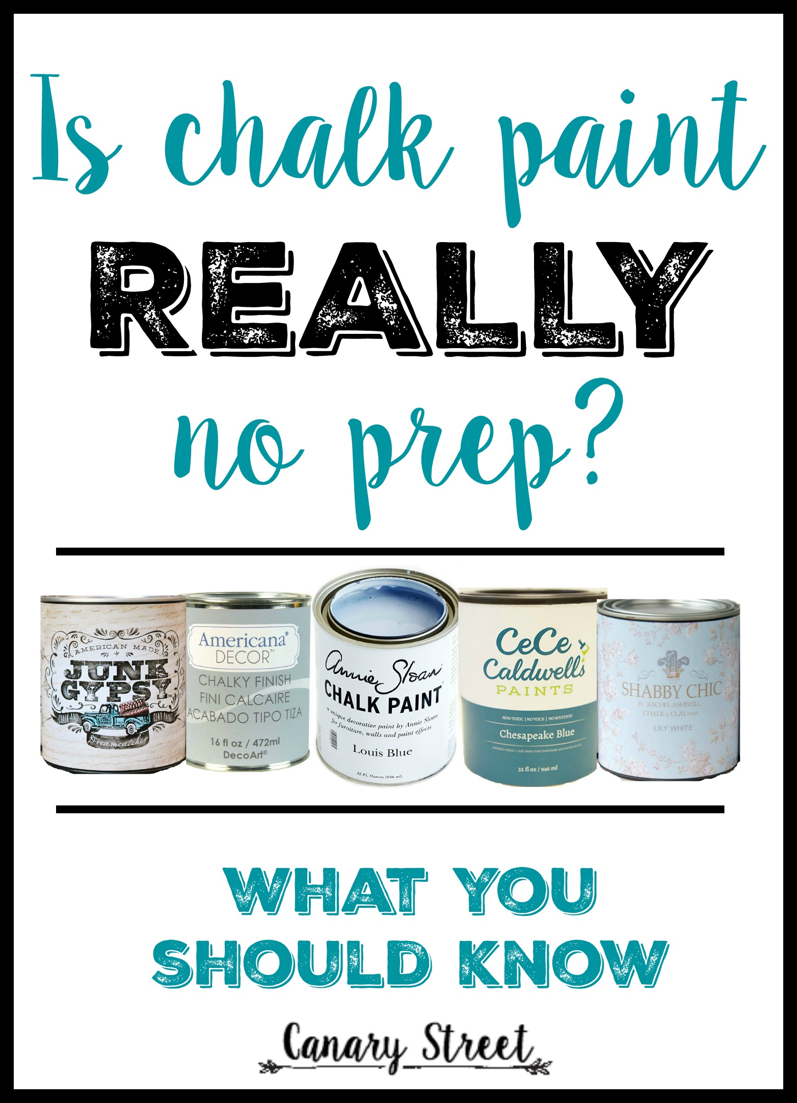 When To Prep Before Chalk Paint - Canary Street Crafts