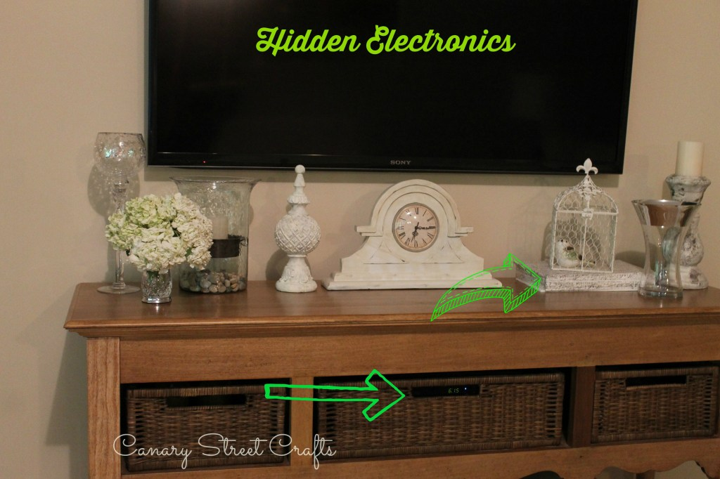 How To Hide Your Electronics -canarystreetcrafts