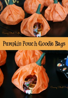 Easy DIY Pumpkin Pouch Goodie Bags!