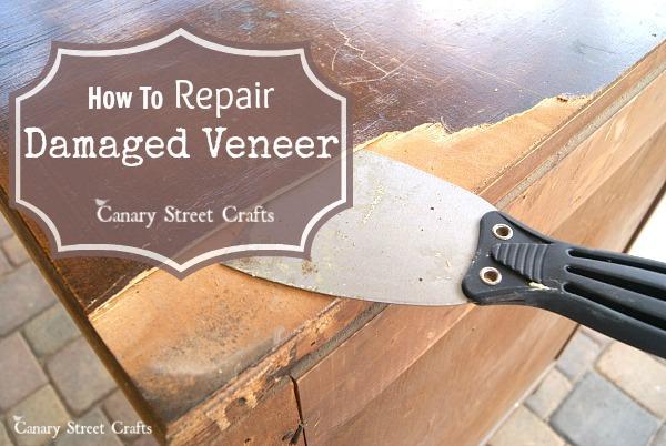 Filing Cabinet Repairing Veneer Table Top