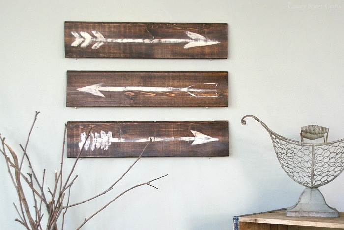 DIY Arrorws painted on wood boards created by Canary Street Crafts  ||  Friday Favorites at www.andersonandgrant.com