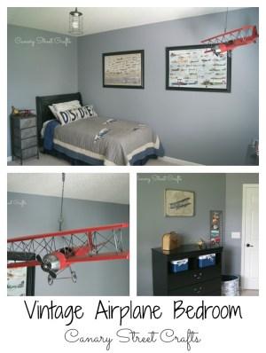 Vintage airplane bedroom  -canarystreetcrafts.com