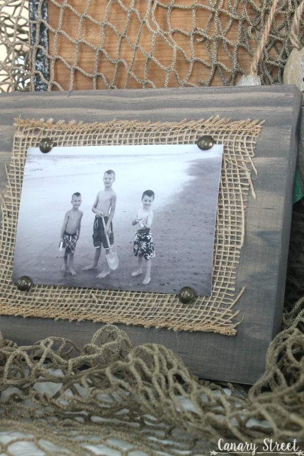 Easy Scrap Wood And Burlap Picture Frame  Canary Street