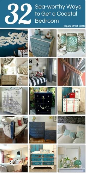 32 Sea Worthy Coastal Bedroom Ideas {Canary Street Crafts}