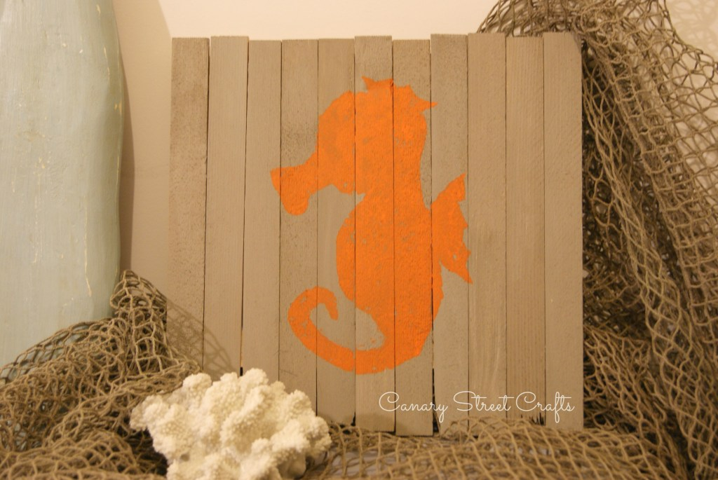 DIY painted sign made from inexpensive wood shims - Canary Street Crafts