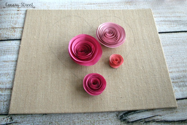 Easy Spiral Paper Flower Heart Canary Street Crafts