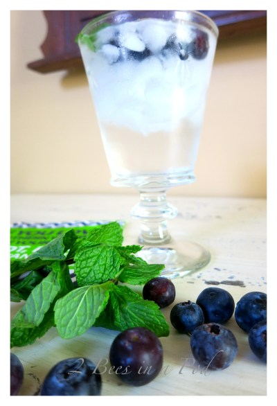 summer blue cocktail {2 Bees In A Pod}