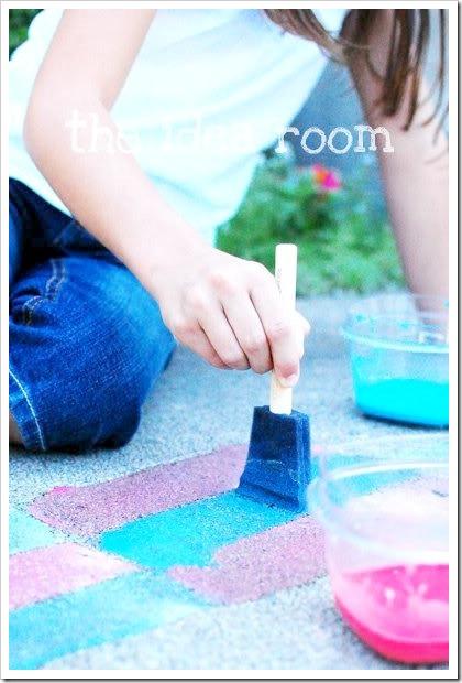Sidewalk chalk paint from- theidearoom.net