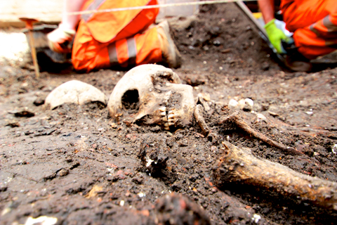 A skeleton is found at the Crossrail site at Liverpool Street Station
