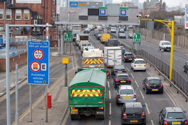 Congestion at Blackwall Tunnel
