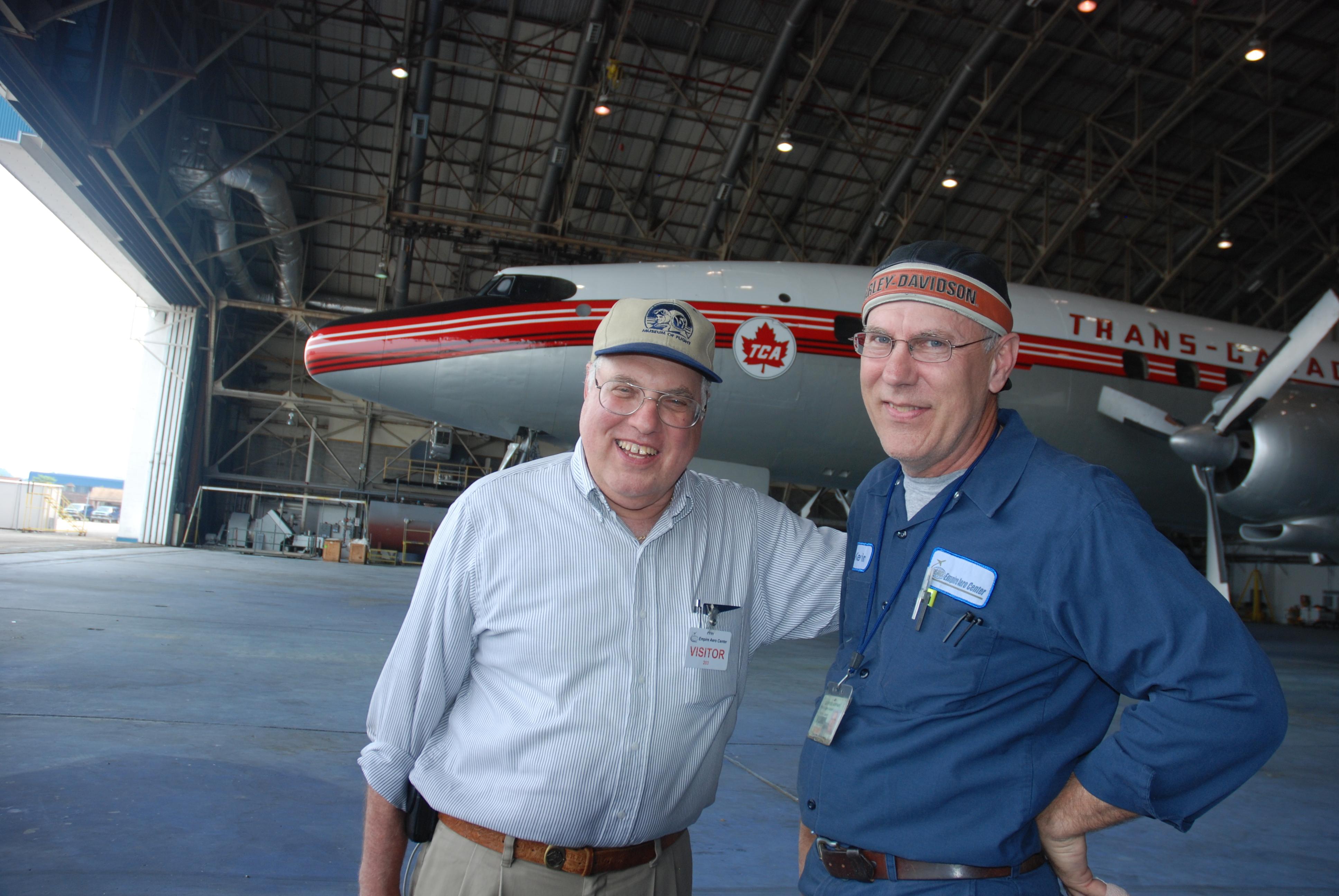 Bob Bogash and Kevin Lacey -- kingpins of the TCA Super Connie project. (Ken Swartz)