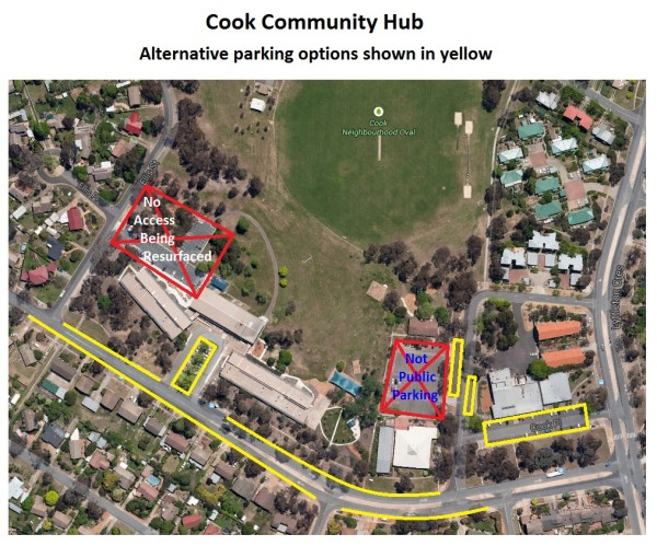 Carpark resurfacing - Cook alternative parking