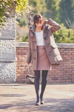 とことん女の子♡な配色がポイントの秋冬フェミニンスタイル
