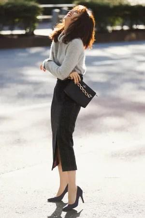 チェック柄タイトスカートをもっといい女っぽく♡