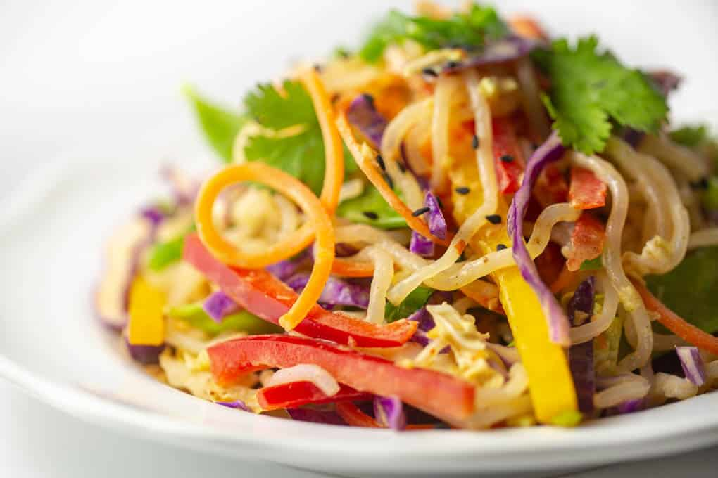Keto Raw Vegan Thai Noodle Salad