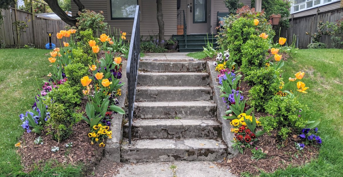 Queen Anne Steps in Spring 2021