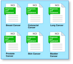 Graphic_Showing NCI_Pages_with_Cancer_Type