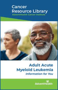 Myeloid leukemia booklet cover