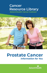 Prostate cancer booklet cover