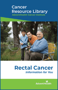 Rectal cancer booklet cover