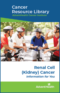 Renal cell kidney cancer booklet cover
