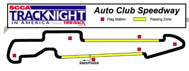 Image of Auto Club Speedway at Fontana, California track layout