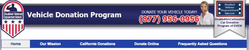 website for donating a vehicle to support disabled veterans