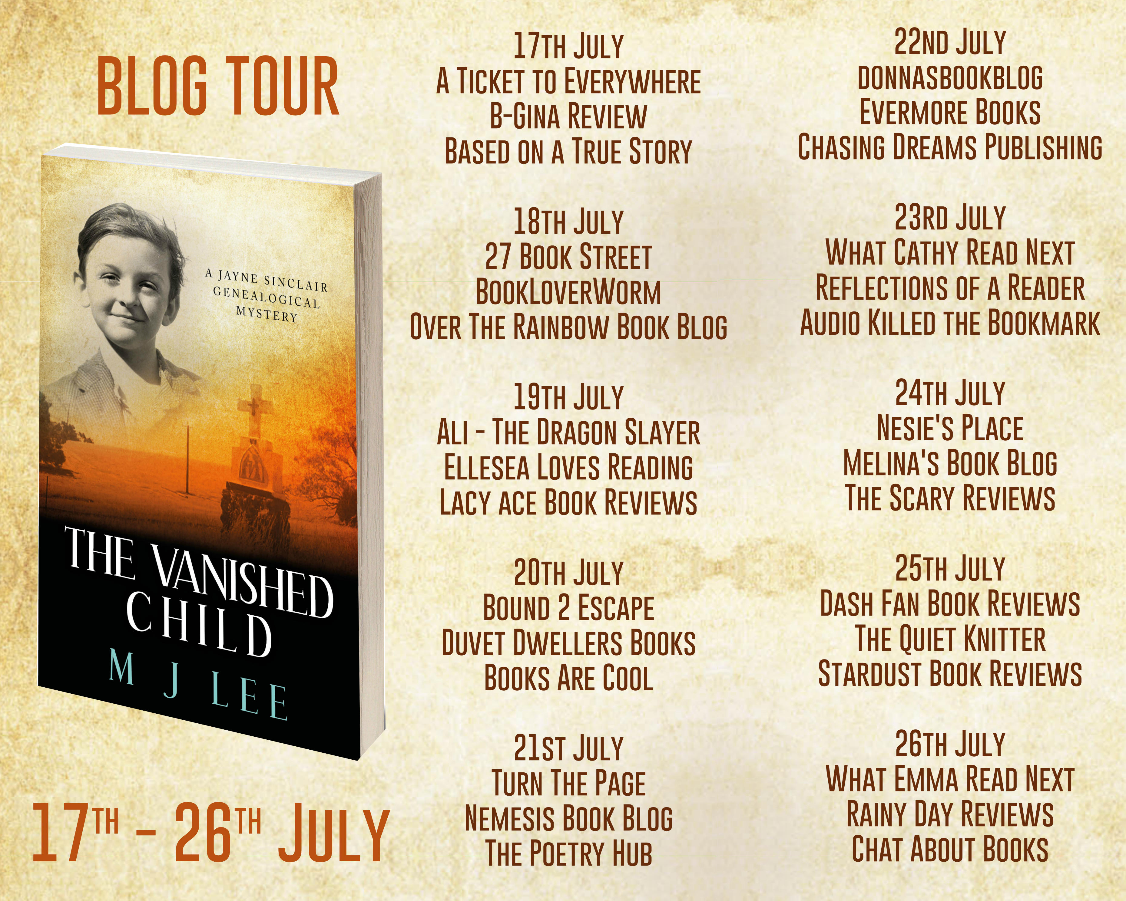 BlogTour #Review ~ The Vanished Child by M J Lee @WriterMJLee