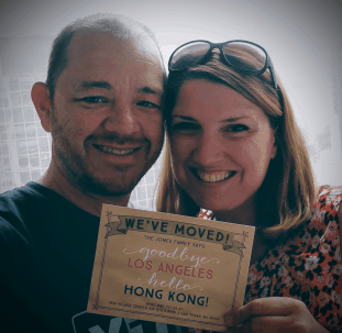 Brad and Maggie in Hong Kong one month before being diagnosed with terminal, stage 4 cancer