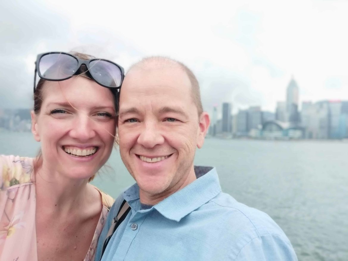 Maggie & Brad in Hong Kong eight months into cancer treatment