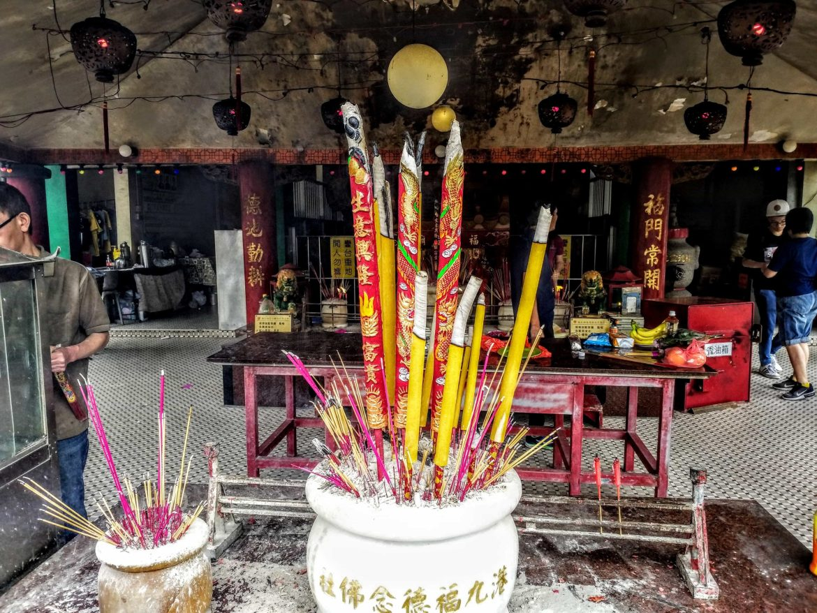Incense at a Hong Kong temple on Chung Yeung Day 2018