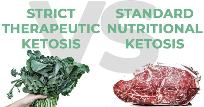 The difference between strict therapeutic Ketosis for cancer and standard nutritional ketosis