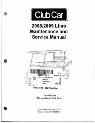 2006 Club Car Precedent Service Manual