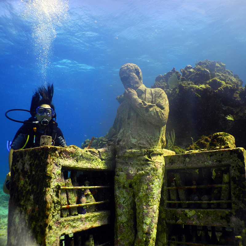 Cancun Underwater Museum for Beginners Divers