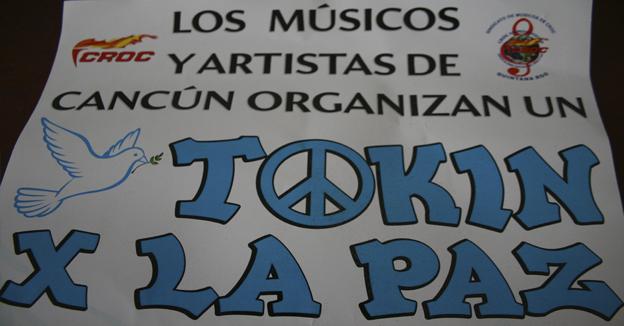 Tokin por la paz cartel