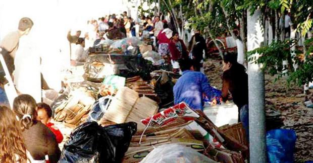 Reciclando basura por alimentos Solidaridad