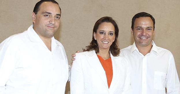 Paul carrillo Roberto Borge y Claudia Ruiz