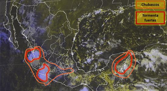 Imagen de satélite de Conagua clima