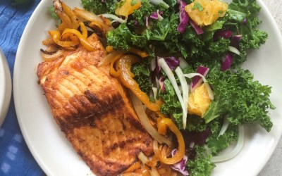 Southwest Salmon with Peppers