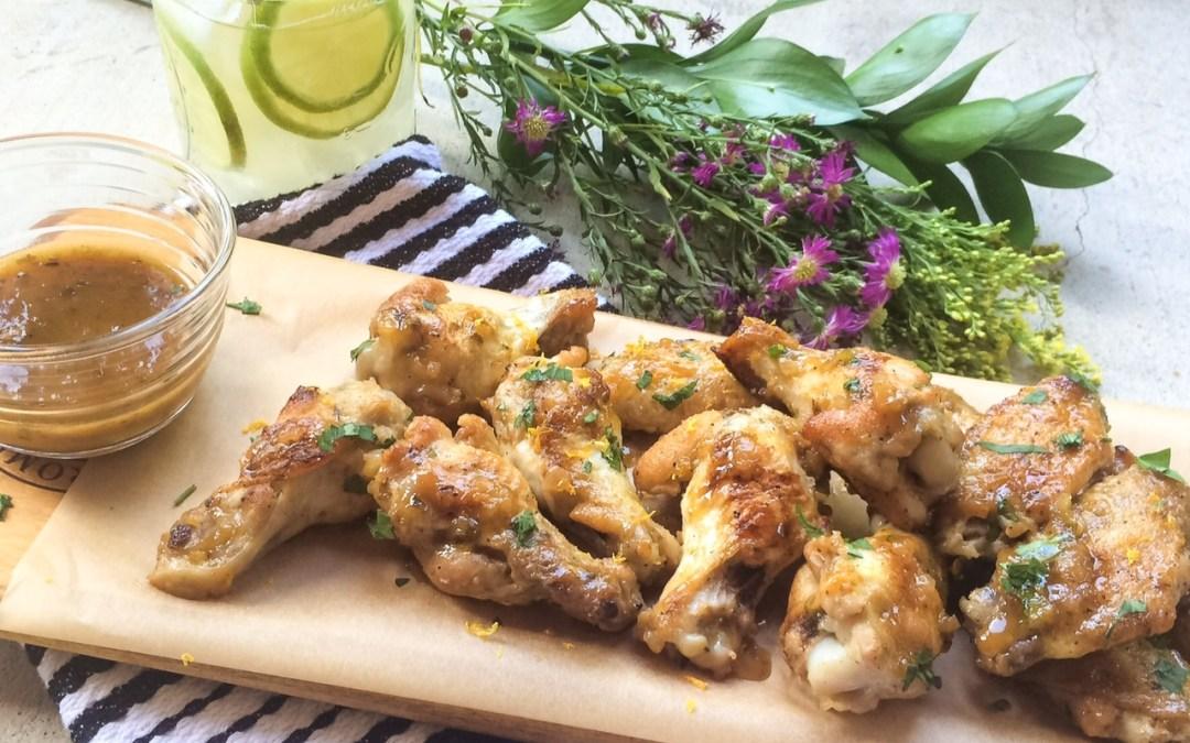 Paleo Citrus Glazed Chicken Wings