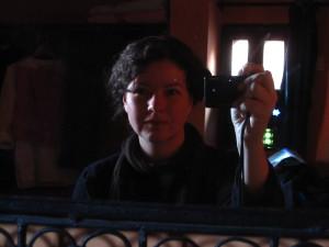 Solo in Morocco - Mirror selfie in Meknes
