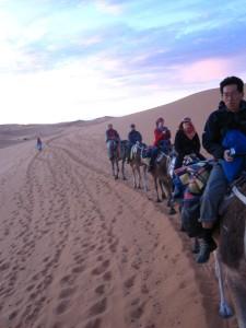 Solo in Morocco - Camel trekking in the Sahara
