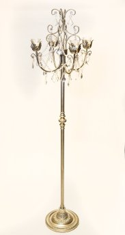 4 Taper Floor Candelabra (Gold)