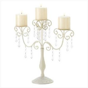 Ivory Candelabra Wedding Gift Centerpiece