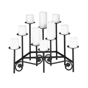 Black Hearth Candelabra