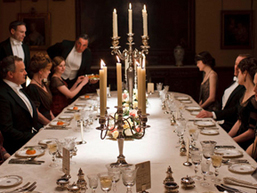 dinner downton candelabra