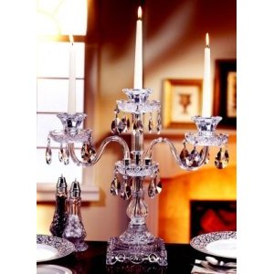 Crystal Romantica Three Arm Candelabra